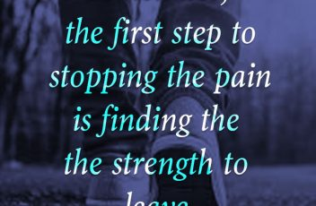 Find Strength To Leave